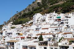Spanish white village Mijas Pueblo. Houses in the white village of Mijas Pueblo in Spain royalty free stock photos