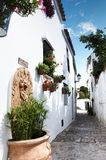Spanish White Village Road Royalty Free Stock Photos