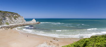 Spanish wild beach (Bay of Biscay,Spain) Royalty Free Stock Photo