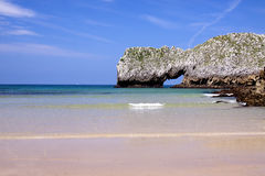 Spanish wild beach (Bay of Biscay,Spain) Stock Photography