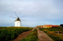 Spanish windmill Royalty Free Stock Photography