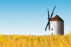 Spanish windmill stock images