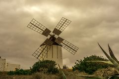 Spanish windmill made of stone Royalty Free Stock Image