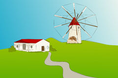 Spanish windmill - Vector illustration Royalty Free Stock Photography