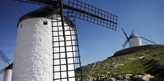 Spanish windmills Stock Photos
