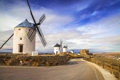 Spanish windmills Royalty Free Stock Photos