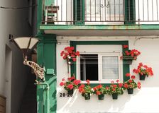 Spanish window. Windows of northern spain town Stock Image