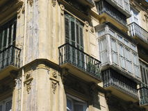 Spanish windows Stock Photo