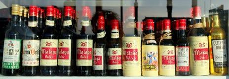 Spanish wine in a shop window Stock Image