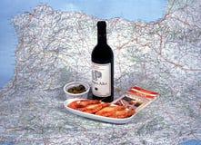 Spanish wine and tapas. Stock Image
