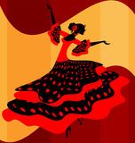 Spanish woman dancer Royalty Free Stock Photos