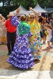 Spanish women flamenco dancing, Marbella. Stock Images