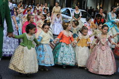 Spanish women and girls in Valencia , Spain Stock Photo