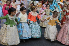 Spanish women and girls in Valencia , Spain Stock Images