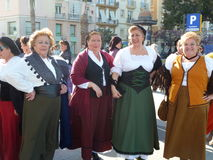 Spanish women in national dress Stock Images