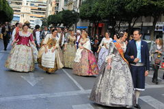 Spanish women in Valencia , Spain Royalty Free Stock Image