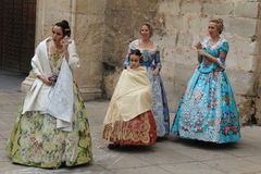 Spanish women in Valencia , Spain Royalty Free Stock Images