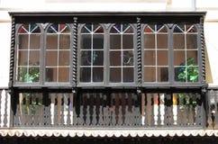 Spanish wooden balcony Royalty Free Stock Photos