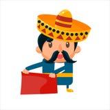 Spanisht toreador i traditionell kläder stock illustrationer