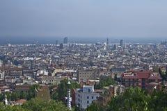 Spanje, Barcelona 02-2013 mei Panorama Royalty-vrije Stock Fotografie