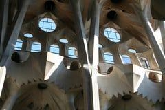Spanje. Barcelona. Sagrada Famiglia Kathedraal Stock Afbeeldingen