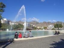 Spanje, Canarische Eilanden, Tenerife, Santa Cruz de Tenerife, Decembe stock foto's