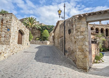 Spanje, Catalonië, Girona, Vrienden Stock Fotografie