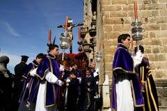 Spanje, de godsdienstige vieringen van Pasen in Jerez Stock Afbeeldingen