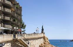 Spanje. Hotel van Maart van Tossa DE. Royalty-vrije Stock Foto's