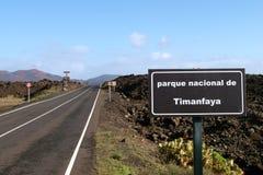 Spanje, Lanzarote, Timanfaya Royalty-vrije Stock Foto's