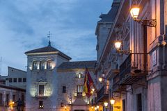 Spanje, Madrid, Plaza DE La Villa Royalty-vrije Stock Foto