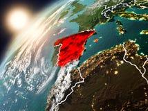 Spanje op aarde in zonsondergang Royalty-vrije Stock Foto