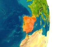 Spanje op planeet royalty-vrije illustratie