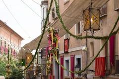 Spanje, Toledo, Corpus Christi Religious Festival stock afbeelding
