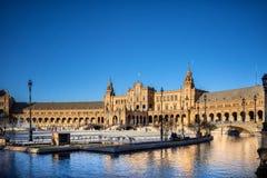 Spanje vierkante Plaza DE Espana, Sevilla, Spanje royalty-vrije stock afbeelding