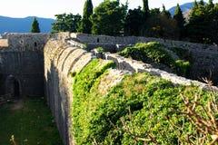 Spanjola堡垒墙壁的看法  免版税库存图片