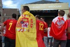 spanjor för flagga euro2012 Royaltyfri Bild