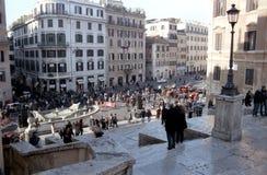 Spanjoren kliver i Rome Arkivfoton