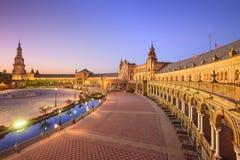 Spanjorfyrkant av Seville, Spanien Arkivfoto