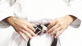 Spannen Sie Kampfkunstschwarzen gürtel, Vorderansicht