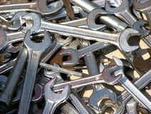 Spanner Background. A background of Spanners/wrenches in different sizes Stock Photos
