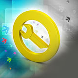Spanner in circle Royalty Free Stock Photos