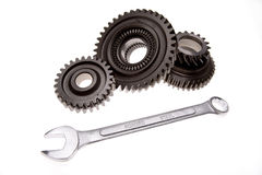 Spanner & cogs Royalty Free Stock Photography