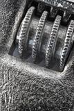 Spanner detail macro. Closeup shot of chromed stainless steel spanner Stock Photos