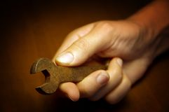 Spanner in Hand Royalty Free Stock Image
