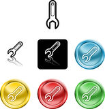 Spanner icon symbol royalty free illustration