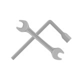 Spanner isolated on white background. Royalty Free Stock Images