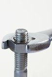Spanner and Nut Royalty Free Stock Image