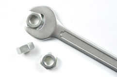 Spanner and Nuts Stock Photos