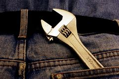 Spanner in the Pocket Royalty Free Stock Image